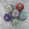 پک 9عددی فرو هررا مخملی رنگی (گلدان10)