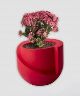 گلدان بتنی قرمز DCO56