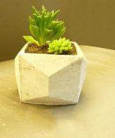 گلدان بتنی مدل مکعب اوریگامی کوچک