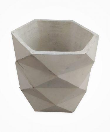 گلدان بتنی استوانه مثلثی چهار طبقه بزرگ (پک 6 عددی)