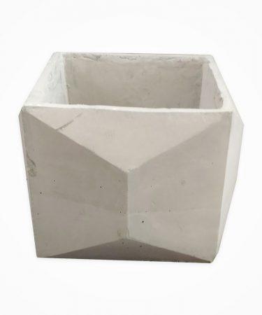 گلدان بتنی مکعب اوریگامی بزرگ (پک 6 عددی)