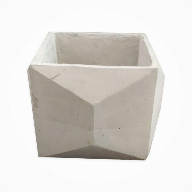 گلدان بتنی مدل مکعب اوریگامی بزرگ