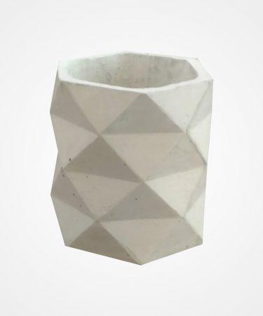 گلدان بتنی استوانه مثلث چهار طبقه کوچک (پک 10 عددی)