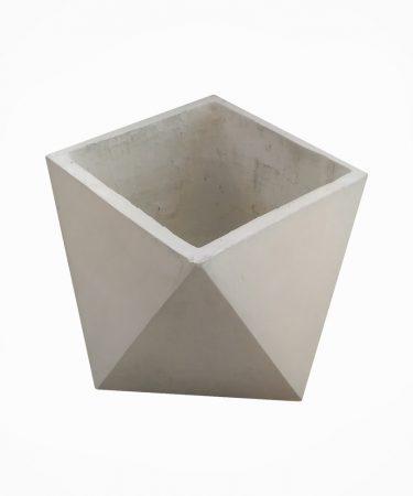گلدان بتنی مربع مثلثی متوسط (پک 12 عددی)