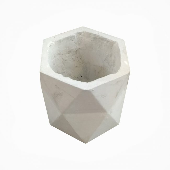 گلدان بتنی استوانه مثلث دو طبقه (پک 27 عددی)